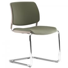Silla interlocutora estructura en tubo de acero asiento y espaldar tapizado