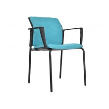 Silla Logan asiento y espaldar tapizado estructura 4 pata