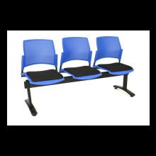 Tandem asiento y espaldar polipropileno inyectado 2, 3 y 4 puestos