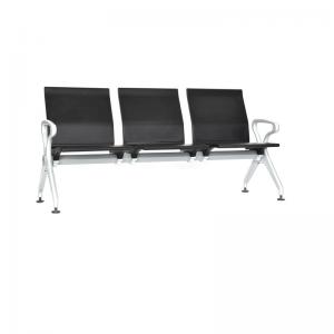 Tandem dos, tres y más puestos Espaldar y asiento con estructura en acero con recubrimiento en PU